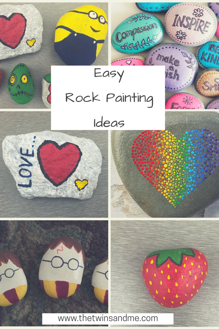 Easy Rock painting ideas – The Twins and Me